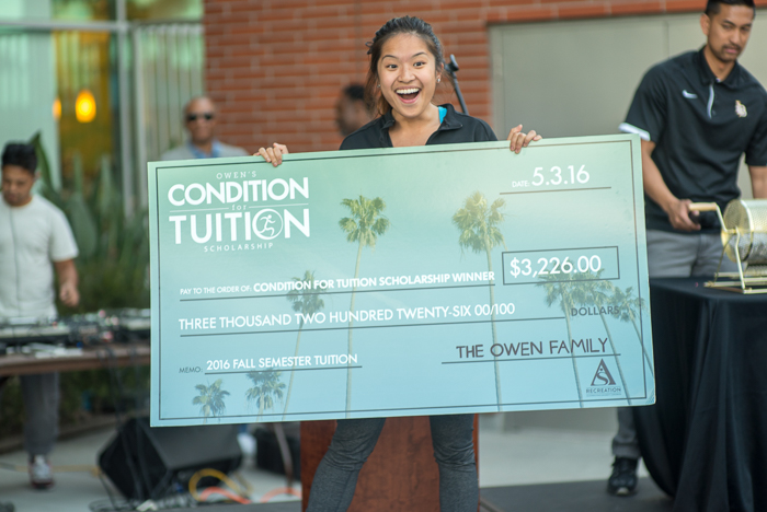 Owen's Condition for Tuition winner for 2016