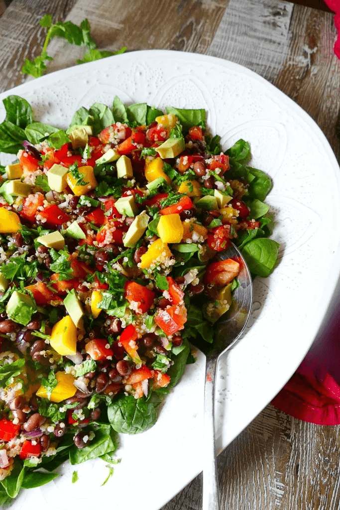Mango Quinoa Salad with Honey-Lime Dressing