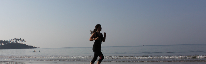 picture of person jogging on the beach